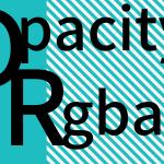 透過設定opacityを指定したエリアのテキストを透過させない方法